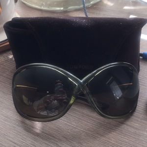 Tom Ford Authentic Whitney Olive Green Sunglasses